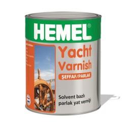 HEMEL - HEMEL YACHT VARNİSH SOLVENT BAZLI PARLAK CİLA DIŞ MEKAN 0,75 LT YAT VERNİĞİ