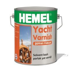 HEMEL - HEMEL YACHT VARNİSH SOLVENT BAZLI PARLAK CİLA DIŞ MEKAN 2.5 LT YAT VERNİĞİ