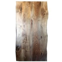 SZN Wood - SZN Wood Kütük Masa Ceviz Geniş Ekli 2 Kenar Sulama -- W01-Dark Oak -- -- 231 x 114 x 4,9 cm