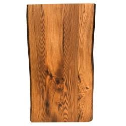 SZN Wood - SZN Wood Kütük Masa Kestane Geniş Ekli 2 Kenar Sulama -- W01-Dark Oak -- -- 150 x 78 x 5,5 cm