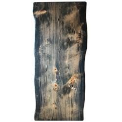 SZN Wood - SZN Wood Kütük Masa Ladin Geniş Ekli 2 Kenar Sulama -- W06-Black -- -- 225 x 95 x 5,7 cm