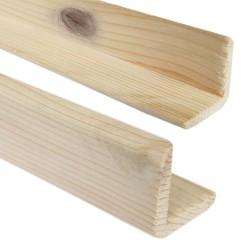 SZN Wood - SZN Wood L Profil 5,0 x 5,0 Cm LADİN RENDELİ