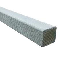 SZN Wood - AHŞAP PROFİL DECK 4,0 x 4,0 Cm LADİN 2.SINIF YEŞİL EMPRENYELİ