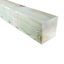 SZN Wood - AHŞAP PROFİL DECK 9,0 x 9,0 Cm LADİN 2.SINIF YEŞİL EMPRENYELİ