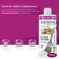 AquaCool - AquaCool Trend Hybrid Varnish Hobi Boyası Su Bazlı Hibrit Vernik 150 ml