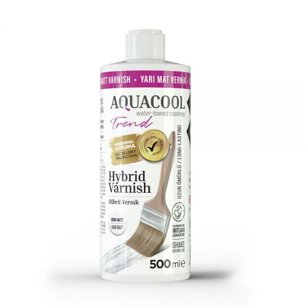 AquaCool Trend Hybrid Varnish Hobi Boyası Su Bazlı Hibrit Vernik 500 ml