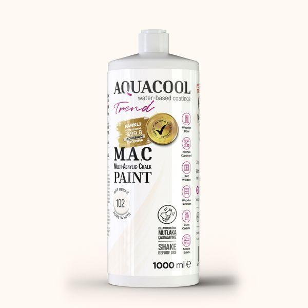 AquaCool Trend M.A.C Hobi Boyası Su Bazlı Akrilik 1000 ml