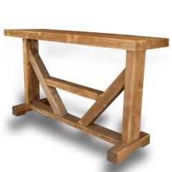 SZN Wood - SZN Wood Konsol Aron Ladin Eskitme Ahşap SZN-51-Teak 147 x 42 x 84 cm