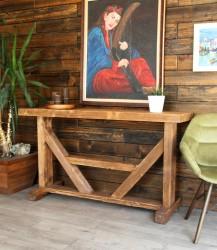 SZN Wood Konsol Aron Ladin Eskitme Ahşap SZN-51-Teak 147 x 42 x 84 cm - Thumbnail