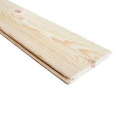 SZN Wood - AHŞAP DUVAR TAVAN KAPLAMA LAMBRİ 13,2 x 1,5 Cm KIZIL ÇAM 2.SINIF