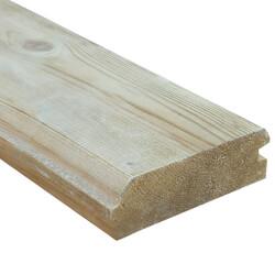 SZN Wood - AHŞAP DUVAR TAVAN KAPLAMA LAMBRİ 14,5 x 4,2 Cm LADİN 2.SINIF ÇİFT TARAFLI PAHLI YEŞİL EMPRENYELİ