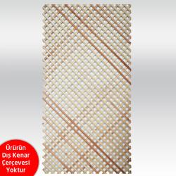 SZN Wood - SEPERATÖR 200 x 100 Cm SARIÇAM 1.KALİTE Geniş Çıtalı Desenli Kalınlık 16mm