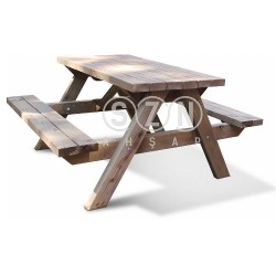 SZN - SZN Piknik Masası Eko PM02 148 Cm x 135 Cm x 75 Cm Emprenyeli