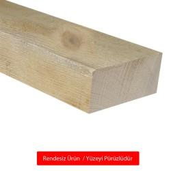 SZN Wood - SZN Wood Ahşap Düz Profil 9,5 x 4,5 Cm LADİN RENDESİZ