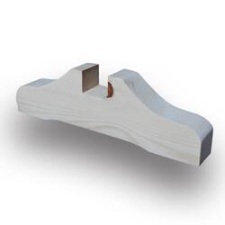 SZN Wood - SZN Wood Ahşap Seperatör Profili 30 x 9,0 x 4,0 Cm LADİN DESTEK AYAĞI KANAL ENİ 40 mm