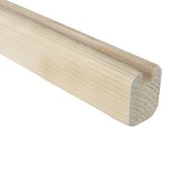 SZN Wood - SZN Wood Ahşap Seperatör Profili 4,0 x 3,0 Cm LADİN 4 KÖŞE PAHLI KÖŞE KENAR KANAL ENİ 8 mm