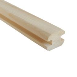 SZN Wood - SZN Wood Ahşap Seperatör Profili 4,0 x 3,0 Cm LADİN 4 KÖŞE PAHLI ORTA EK KANAL ENİ 8 mm