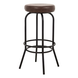 SZN Wood Bar Taburesi Tess Döşemeli Özel Renk Siyah - 75cm Oturum 36x36x75cm - Thumbnail