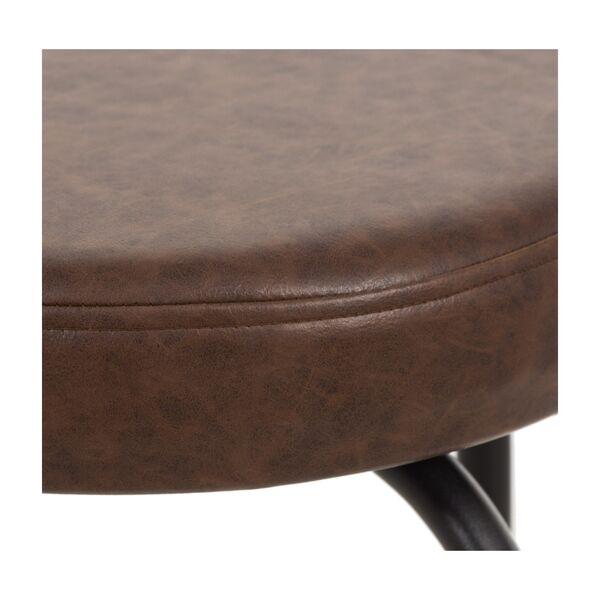 SZN Wood Bar Taburesi Tess Döşemeli Özel Renk Siyah - 75cm Oturum 36x36x75cm