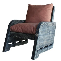 SZN Wood - SZN Wood Berjer Sled Ladin Eskitme Zeus360 - SZN01-Black 48cm Oturum 70x110x95cm