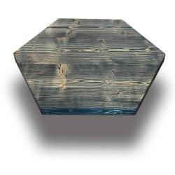 SZN Wood - SZN Wood Cafe Masa Ladin Eskitme Ekli Altıgen -- W07-Oil Green -- -- 60 x 60 x 4,0 cm