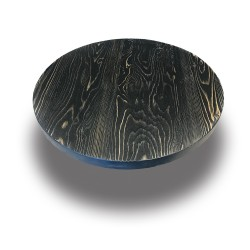 SZN Wood - SZN Wood Cafe Masa Ladin Eskitme Ekli Düz Yuvarlak SZN-01-Black -- -- -- 65 x 65 x 4,0 cm