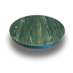 SZN Wood - SZN Wood Cafe Masa Ladin Eskitme Ekli Düz Yuvarlak SZN-66-Irish Green -- -- -- 65 x 65 x 4,0 cm