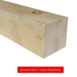 SZN Wood - SZN Wood Ahşap Düz Profil 9,5 x 9,5 Cm LADİN RENDESİZ