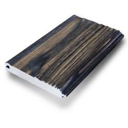 SZN Wood - SZN Wood Eskitme Ahşap Lambri Pahlı Düz Ladin 150 x 13,7 x 2,0 Cm SZN-01-Black
