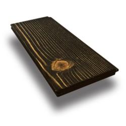 SZN Wood - SZN Wood Eskitme Ahşap Lambri Pahlı Düz Ladin 150 x 9,0 x 1,2 Cm SZN-01-Black