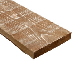 SZN Wood - SZN Wood Ham Eskitme Ahşap 13-15cm Ladin 100 x 15 x 2,5 Cm SZN-51-Teak