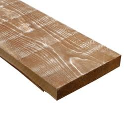 SZN Wood - SZN Wood Ham Eskitme Ahşap 13-15cm Ladin 50 x 15 x 2,5 Cm SZN-51-Teak
