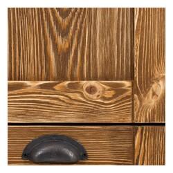 SZN Wood İçki Dolabı Deep Ladin Eskitme Ahşap SZN-51 95 x 33 x 90 cm Düz Kapak - Thumbnail
