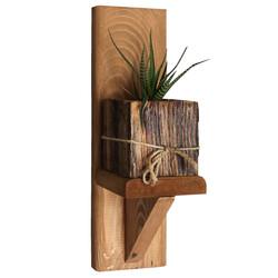 SZN Wood - SZN Wood Kaffa Ahşap Raf Ladin-Göknar Kendin Yap 9 x 29 x 11 cm SZN51-Teak - - - -