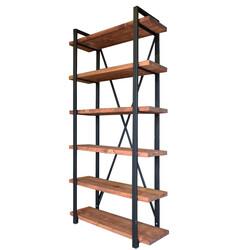 SZN Wood - SZN Wood Kitaplık Gamboz Ladin -- W02-Mahogany 100 x 34 x 200 cm 6 Raflı --