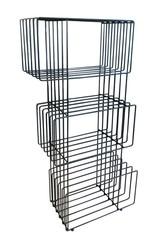 SZN Wood - SZN Wood Kitaplık Tel -- Siyah 85 x 35 x 150 cm 3 Raflı --