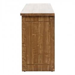 SZN Wood Konsol Moiso Ladin Eskitme Ahşap SZN-51-Teak 195 x 50 x 85 cm Çapraz Çift Renk - Thumbnail