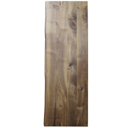 SZN Wood - SZN Wood Kütük Masa Ceviz Geniş Ekli 2 Kenar Sulama -- W01-Dark Oak -- -- 150 x 54 x 4,8 cm