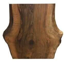 SZN Wood - SZN Wood Kütük Masa Ceviz Tek Parça 2 Kenar Sulama -- W01-Dark Oak -- -- 78 x 72 x 5,5 cm