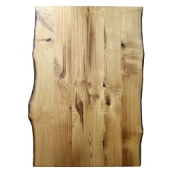 SZN Wood - SZN Wood Kütük Masa Kestane Geniş Ekli 2 Kenar Sulama -- W01-Dark Oak -- -- 125 x 86 x 5,7 cm