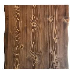 SZN Wood - SZN Wood Kütük Masa Ladin Geniş Ekli 2 Kenar Sulama -- W03-English Color -- -- 70 x 72 x 5,4 cm