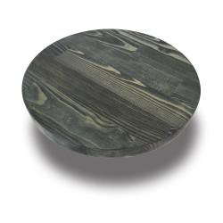 SZN Wood - SZN Wood Kütük Sehpa Çam Panel Tek Parça Düz Yuvarlak -- W07-Oil Green -- -- 35 x 35 x 3,0 cm