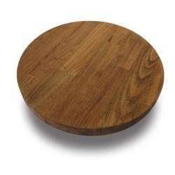 SZN Wood - SZN Wood Kütük Sehpa Kayın Panel Tek Parça Düz Yuvarlak -- W01-Dark Oak -- -- 35 x 35 x 3,0 cm