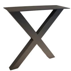 SZN Wood - SZN Wood MASA AYAĞI X 80x40mm Profil 70 Cm SİYAH TEK