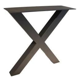 SZN Wood - SZN Wood MASA AYAĞI X 80x80mm Profil 70 Cm SİYAH TEK