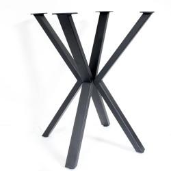 SZN Wood - SZN Wood MASA AYAĞI Yıldız 50x30mm Profil 70 Cm SİYAH TEK