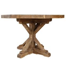 SZN Wood - SZN Wood Masa Ladin Eskitme Aron Düz Yuvarlak SZN-51-Teak -- Ultra Mat -- 120 x 120 x 78 cm