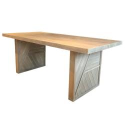 SZN Wood - SZN Wood Masa Ladin Eskitme Axis 4 Kenar Düz SZN02 -- Ultra Mat -- 197 x 94 x 78 cm