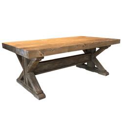 SZN Wood - SZN Wood Orta Sehpa Aron -- Eskitme Ahşap Ladin SZN51-Teak - -- 68 x 120 x 47 cm