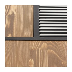 SZN Wood Orta Sehpa New Magazine Siyah Eskitme Ahşap Çam Panel SZN51-Teak - -- 100 x 100 x 35 cm - Thumbnail